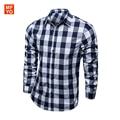 New Fashion High Quality Mens Dress Shirts Blue Shirt Men Causal Striped Shirt Men Camisa Social Masculina Chemise Homme