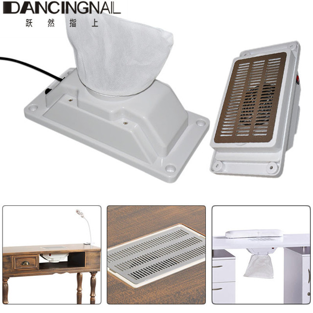 22W Manicure Table Nail Dust Collector Electric Nail Drilling ...