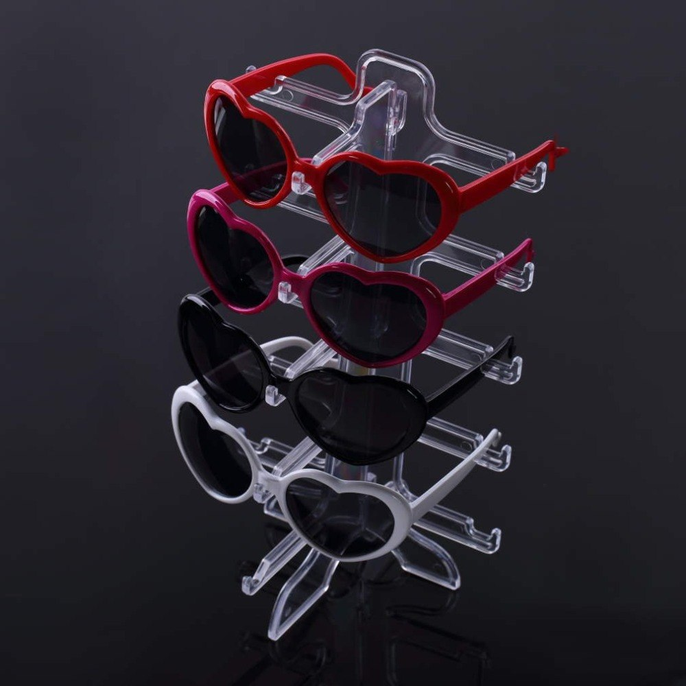 New 1pcs 5 Layers Simple Convenient Plastic Glasses Eyeglasses Sunglasses Show Stand Holder Fashion Frame Display Rack