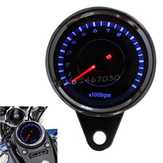 Motorcycle Mechanical 13000RPM Tachometer Gauge For Honda Yamaha Kawasaki LED Backlight