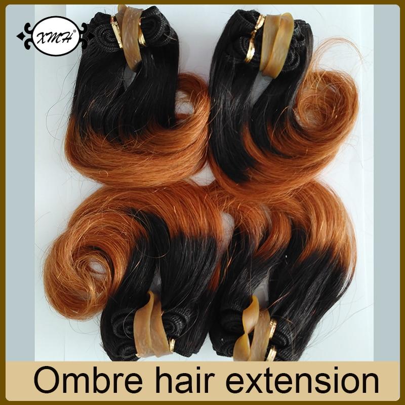 Wholesale 10pcs Ombre Brazilian Short Hair Weave 6 Inch Two Tone