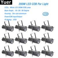 12XLot 200W DMX LED Profile Spot Lights High Power 200W COB LED Spot Gobo Light Led Par DMX 3 Channels For Show Dj Stage Lights