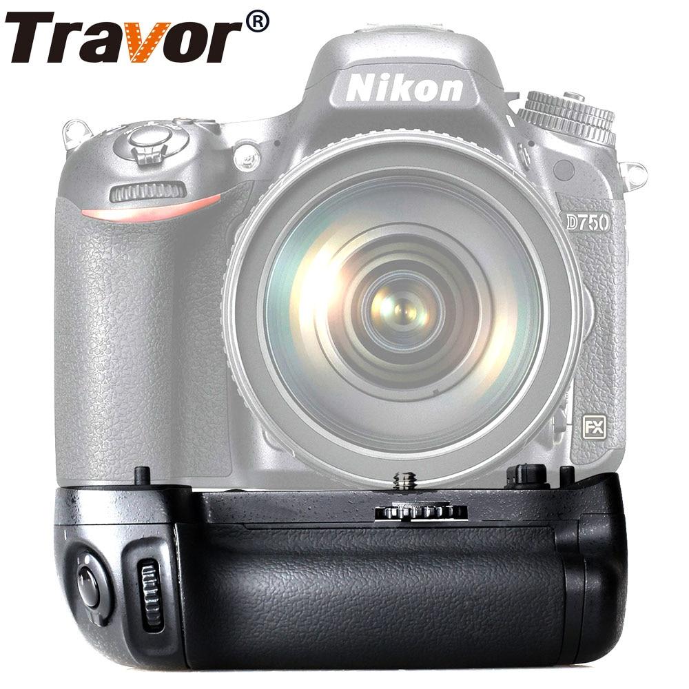 Travor vertical battery grip holder for Nikon D750 DSLR Camera work with EN EL15 battery as