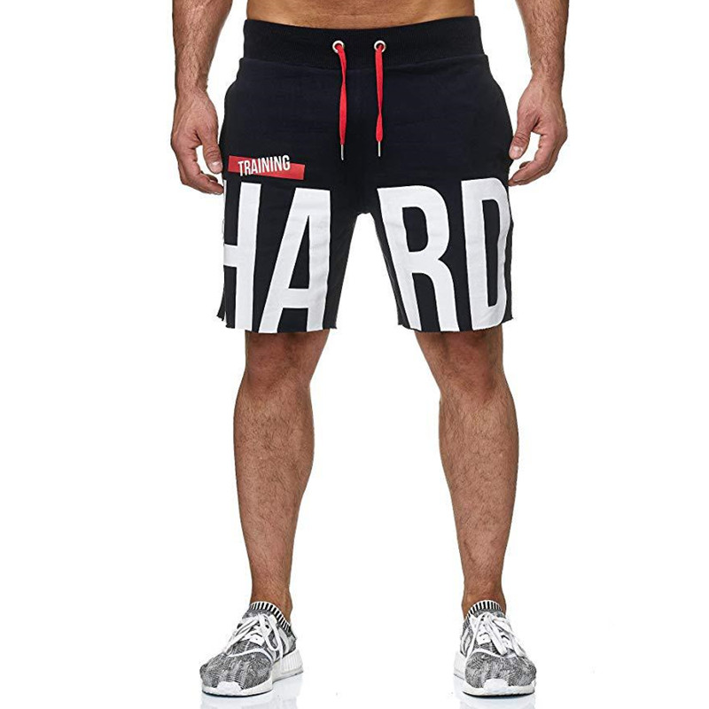 2019 Summer New Fashion Cotton Elastic Breathable Brand Men Gyms Shorts Mens Fashion Printing Fitness Bodybuilding Short Pants