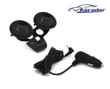 3.5 мм Порт Автомобильное Зарядное Устройство Для Автомобиля Радар-Детектор/Автомобильный ВИДЕОРЕГИСТРАТОР камера, выход ПОСТОЯННОГО ТОКА 12 В 1.5A Кабель 2 м радар-детектор присоски кронштейн