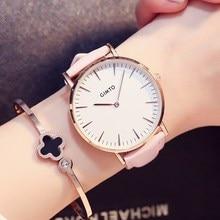 GIMTO Reloj Mujer Casual Women Watch Leather Ladies Watch Women  Luxury Quartz Wristwatch Waterproof Female Clock New Table Hour