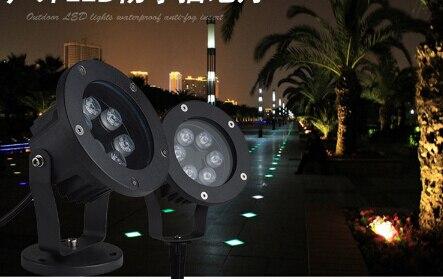 6W Waterproof LightLED Lawn Lamp 110V 220V Landscape Spot Light IP67 Outdoor Lighting Lamps in ground Spike Light For Garden