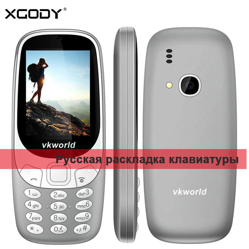 Vkworld Z3310 2G Feature Phone 2 4 32M 32M GSM 6531 TF Card 2MP Back Camera