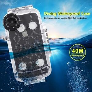 Image 2 - PULUZ עבור iPhone XS מקס/XR/XS מתחת למים דיור 40m/130ft צלילה טלפון מגן מקרה גלישה שחייה שנורקל תמונה וידאו