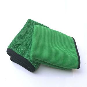 Image 4 - 1psc 40*60 Verde Ferramenta de Lavagem Do Carro Toalha de Microfibra de Limpeza Do Carro Detalhamento Pano Seco Nunca Zero Cera Cuidado de Carro toalha