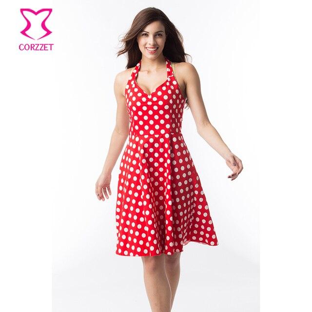 jurk rood witte stippen