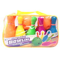 Children Plastic Bowling Set Emulational Sport Toy With Big Size Handbag Package Gift Children New Years