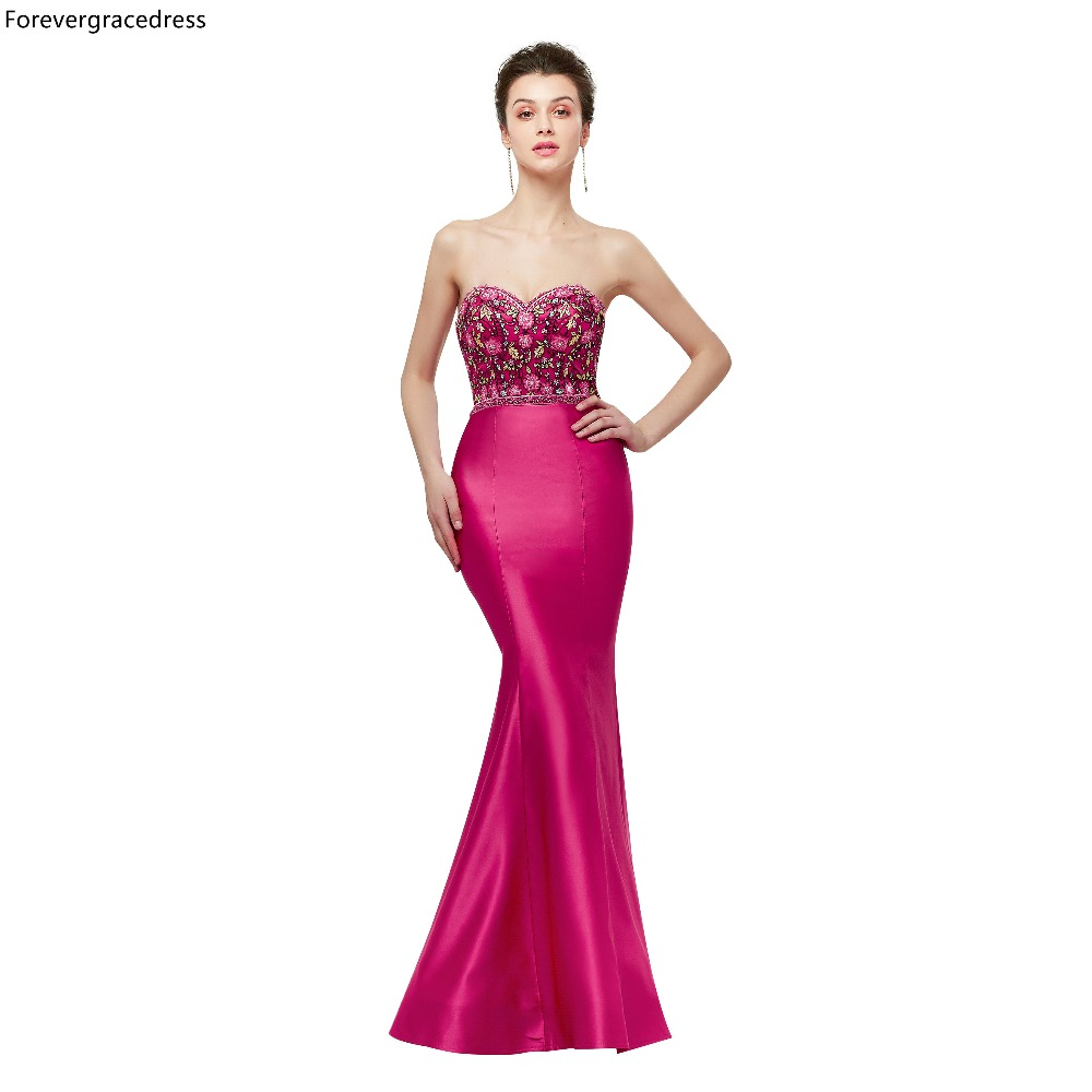 Forevergracedress Embroidery   Prom     Dresses   2019 New Arrival Sweetheart Beading Formal Party Gowns Plus Size Custom Made