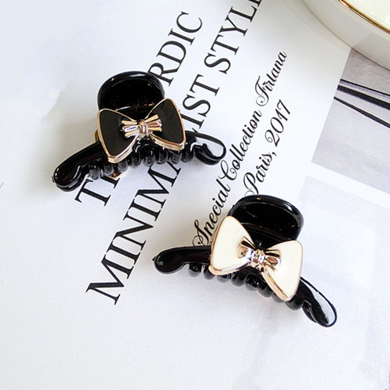 1pcs acrylic Bowknot modelling Hair crab claw clip Hairpin Claws Clamps for women Girl Headwear Accessories scrunchie silk