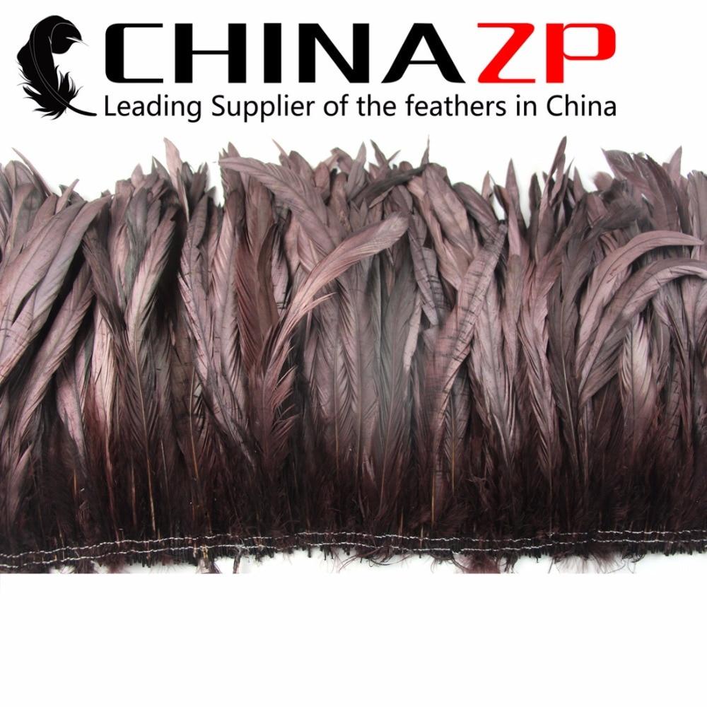 Plumes de CHINAZP 10 à 12 pouces plumes de coq de café lisse pour la conception de carnaval montrant en vrac en gros