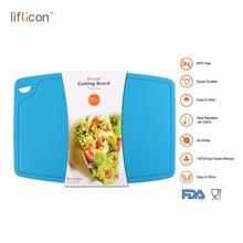 Liflicon Kitchen Silicone Large Cutting Board Meat & Veggie Durable Chopping Blocks Anti-Bacteria Healthy Cutting Blocks