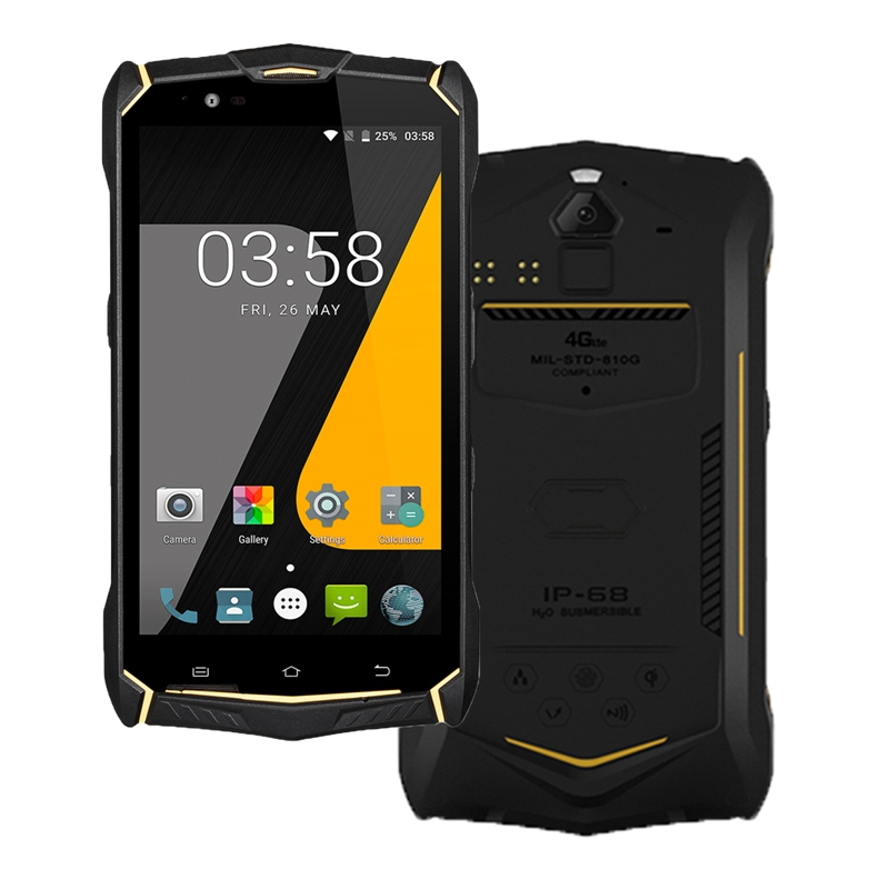 5.5 pouces FHD H1080 V1920 Android 7.0 RAM 4 GB ROM 64 GB terminal intelligent industriel téléphone robuste terminal robuste