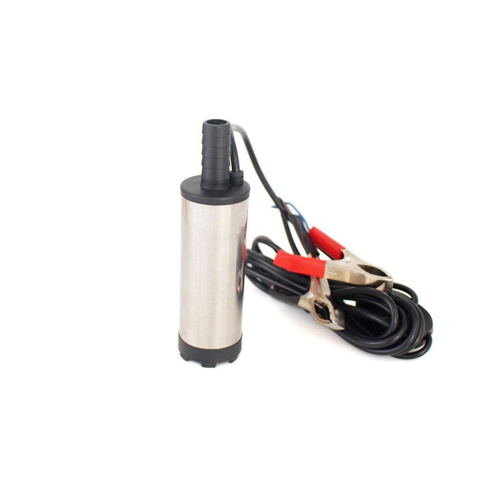 Bomba sumergible eléctrica de 12 V 24 V CC para bombear agua de aceite diesel, bomba de transferencia de combustible, carcasa de acero inoxidable, 12 l/min, V 12 24 V voltios