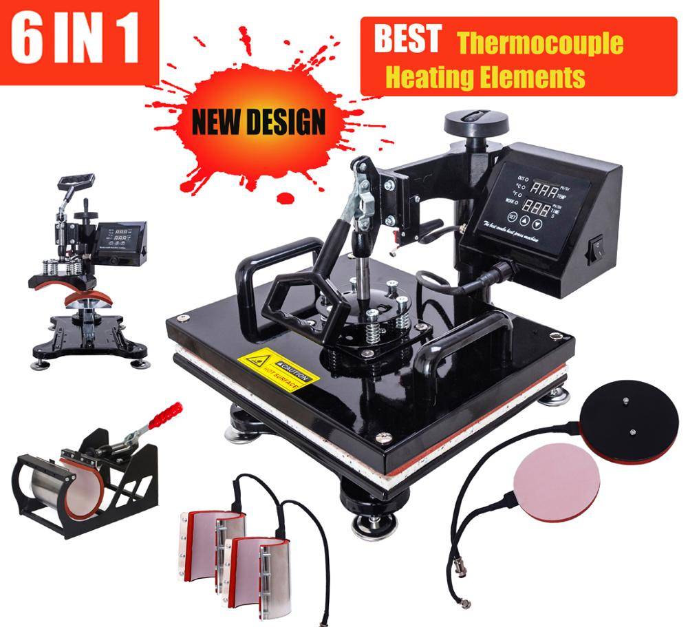 Heat-Press-Machine T-Shirt/phone-Cases New-Design Combo for 6-In-1 Advanced