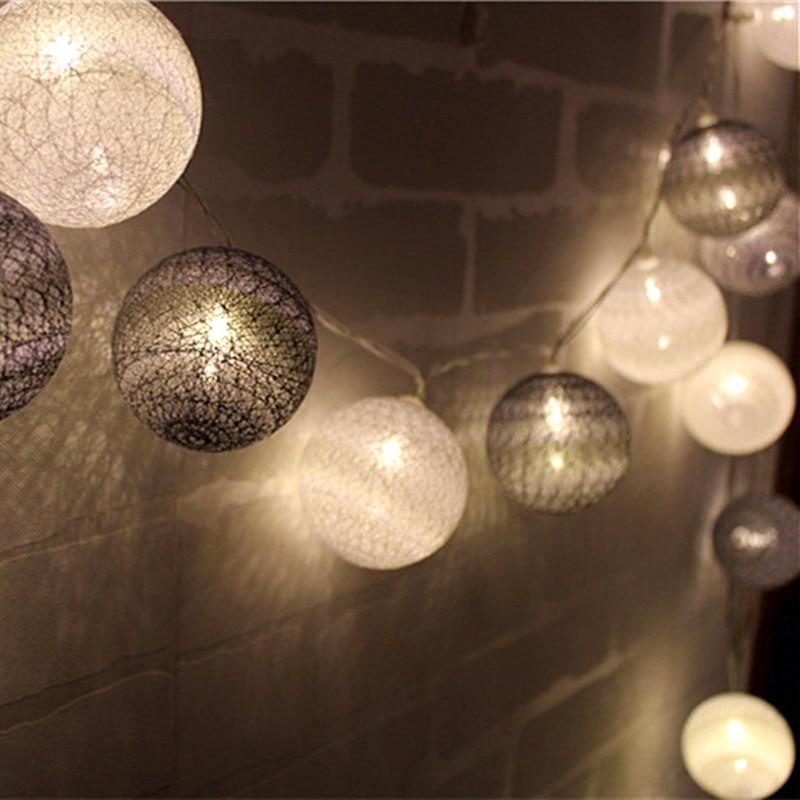 cool color series cotton ball string lights luces led. Black Bedroom Furniture Sets. Home Design Ideas