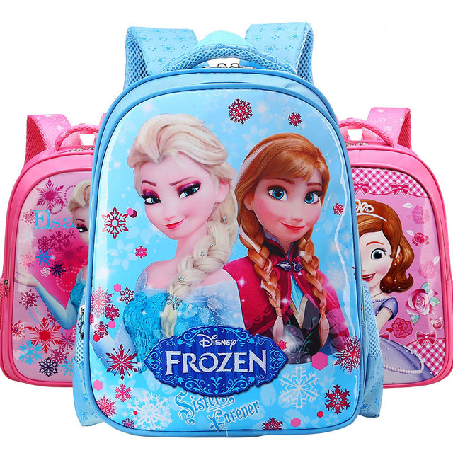 Cartoon Backpack Cute Superhero Batman Hulk Iron Man Frozen Bag Toy  Children s School Bags Kids Gift 99f59d8e780a7