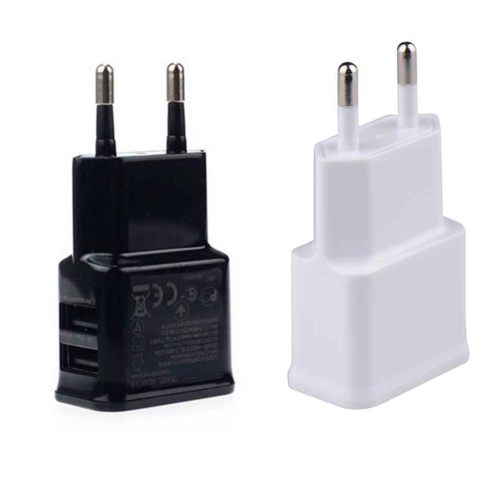 5V 2A Plug Dual Double USB Charger For iphone ipad ipod Universal mobile phone charger Wall AC Power Charger For Xiaomi