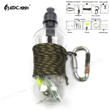 EDC.1991 10 in1 SOS Outdoor Camping Hiking Emergency Survival Gear activated carbon filter kettle Kit Se tactical survival kit