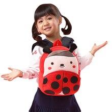 2-4 years Children Cute Zoo Ladybug Plush School Bags Girls Boys Cartoon Kindergarten Backpack Kids Animal Stuffed Toy Bag