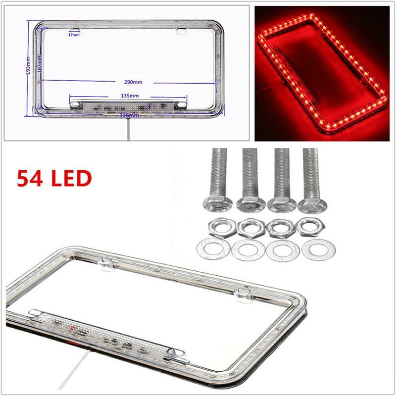 1Pc Plastic Silver Carbon Fiber Style License Plate Frames Front /& Rear Bracket