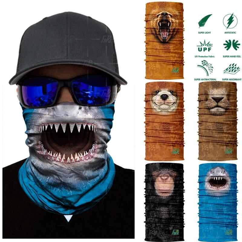 Halloween 3D Seamless Scarf Neck Tube Full Face Mask Head Bandana For Men Women