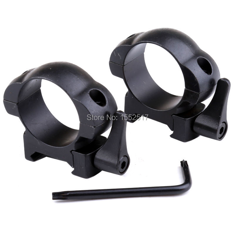 Steel Weaver Rings 30MM Low Profile Black Matte Top Mount