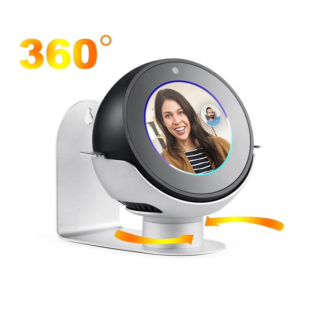 360 Grad Rotation Metall Wand Halterung Aufhänger Stehen Halterung Für Amazon Echo Spot Jlrj88