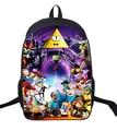 16 Inch Cartoon Children Backpack Student School Bags School Gravity Falls Mochila for Teenage Kids Boys Girls Gift