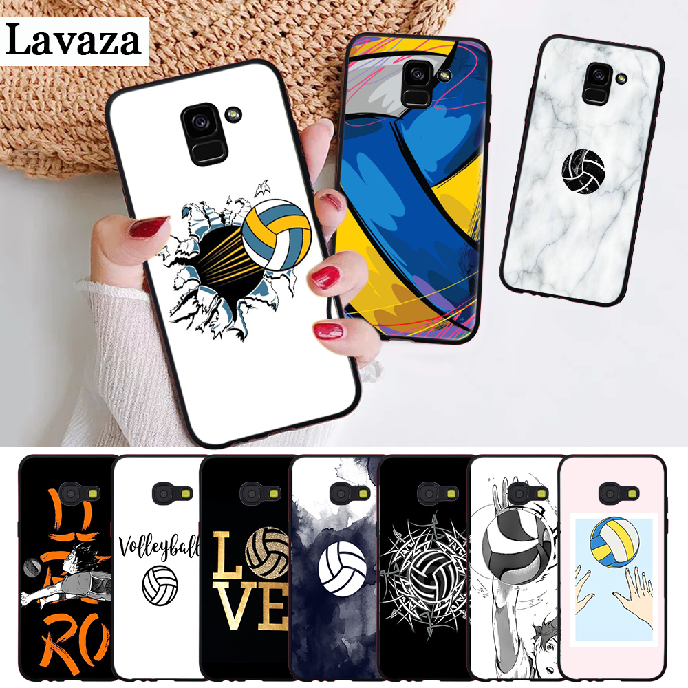 Lavaza I love Volleyball Printing Silicone Case for Samsung A3 A5 A6 Plus A7 A8 A9 A10 A30 A40 A50 A70 J6 A10S A30S A50S