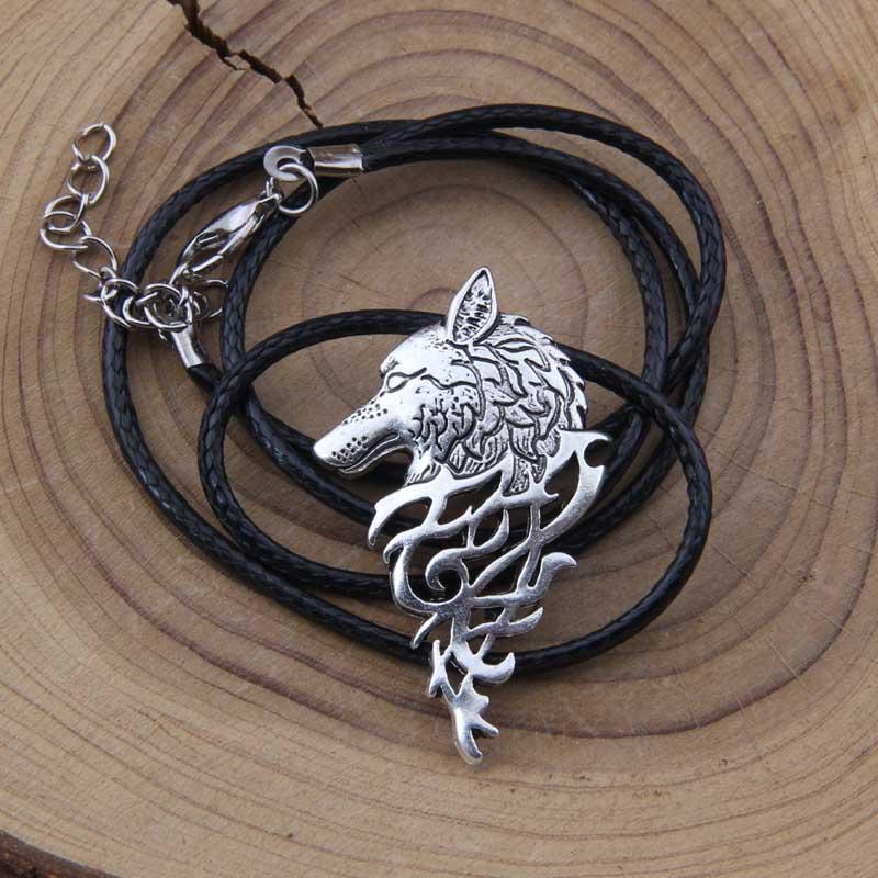 Yage 4Colors 1pcs rune viking canavar boyunbağı hədiyyə - Moda zərgərlik - Fotoqrafiya 4