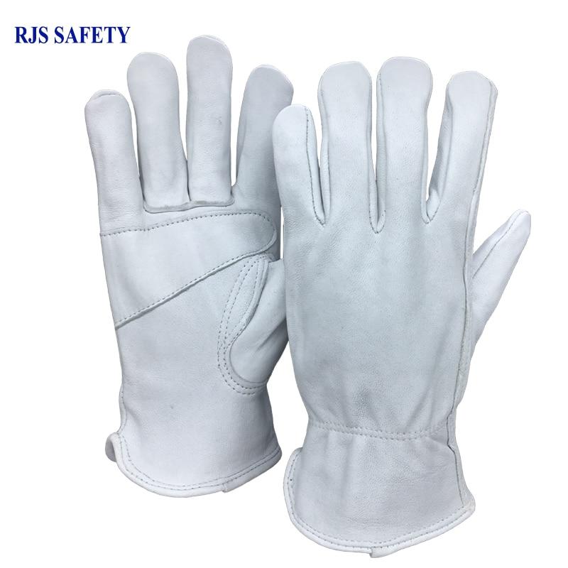 Safety Work Gloves sheepskin Leather Men Working Gloves Safety Protective Sports Driver MOTO Wear-resisting Welding Gloves 4030