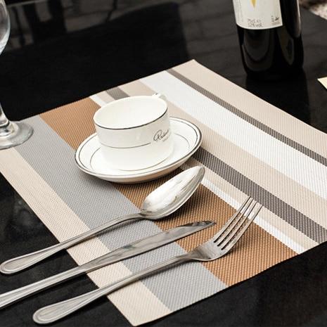 4 teile / los Weihnachten Tischsets PVC Tischset Bar Matte 30 * 45 cm - Küche, Essen und Bar - Foto 6