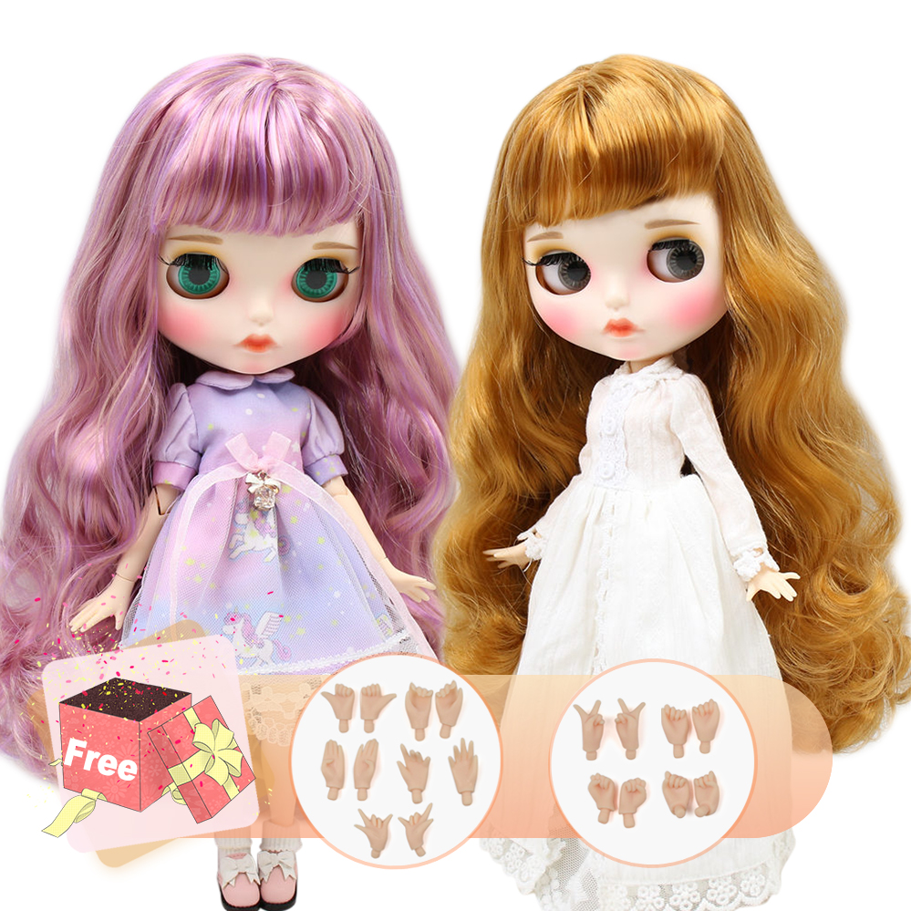ICY factory blyth doll joint body customize carved lips face with eyebrow on sale 1 6