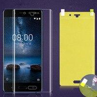 Chiaro Trasparente Caso Molle di TPU Per Nokia 8 sirocco 8.1 7.1 6.1 5.1 3.1 2.1 7 Più 6 5 3X6X5 di Copertura Completa Idrogel nano Pellicola