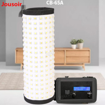 LED roll light camera light flexible interview fill light outside shooting photography light color temperature CB-65A  CD50 T08