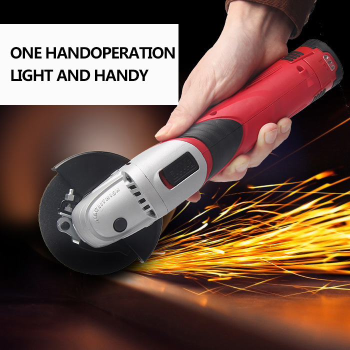 Image 4 - 12 Volt Cordless Lithium ion Angle Grinder Tool 100mm Disc Electric Angler Sander Wheel Grinder Woodworking Buffer Tool Polisher-in Grinders from Tools on