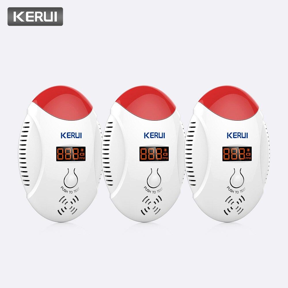 KERUI 3pcs Stable LED Digital Display Voice Strobe Carbon Monoxide Detectors Home Security CO Gas Carbon