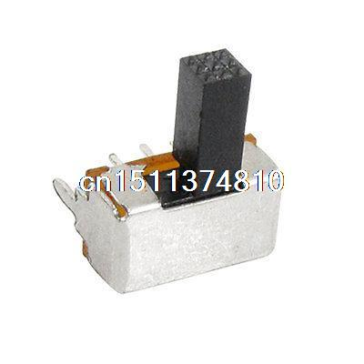 10 Pcs ON-ON 2 Position 2P2T DPDT Miniature Slide Switch 6 Pin PCB Right Angle