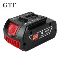 GTF For Bosch 18V 6000mAh Power Tools Battery Lithium Rechargeable Batteries Pack Cordless for Bosch Drill BAT609 BAT618 JSH180