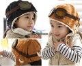 Winter baby earflap,Pilot cap, children hats boys, flight caps,warm winter hat Free Shipping