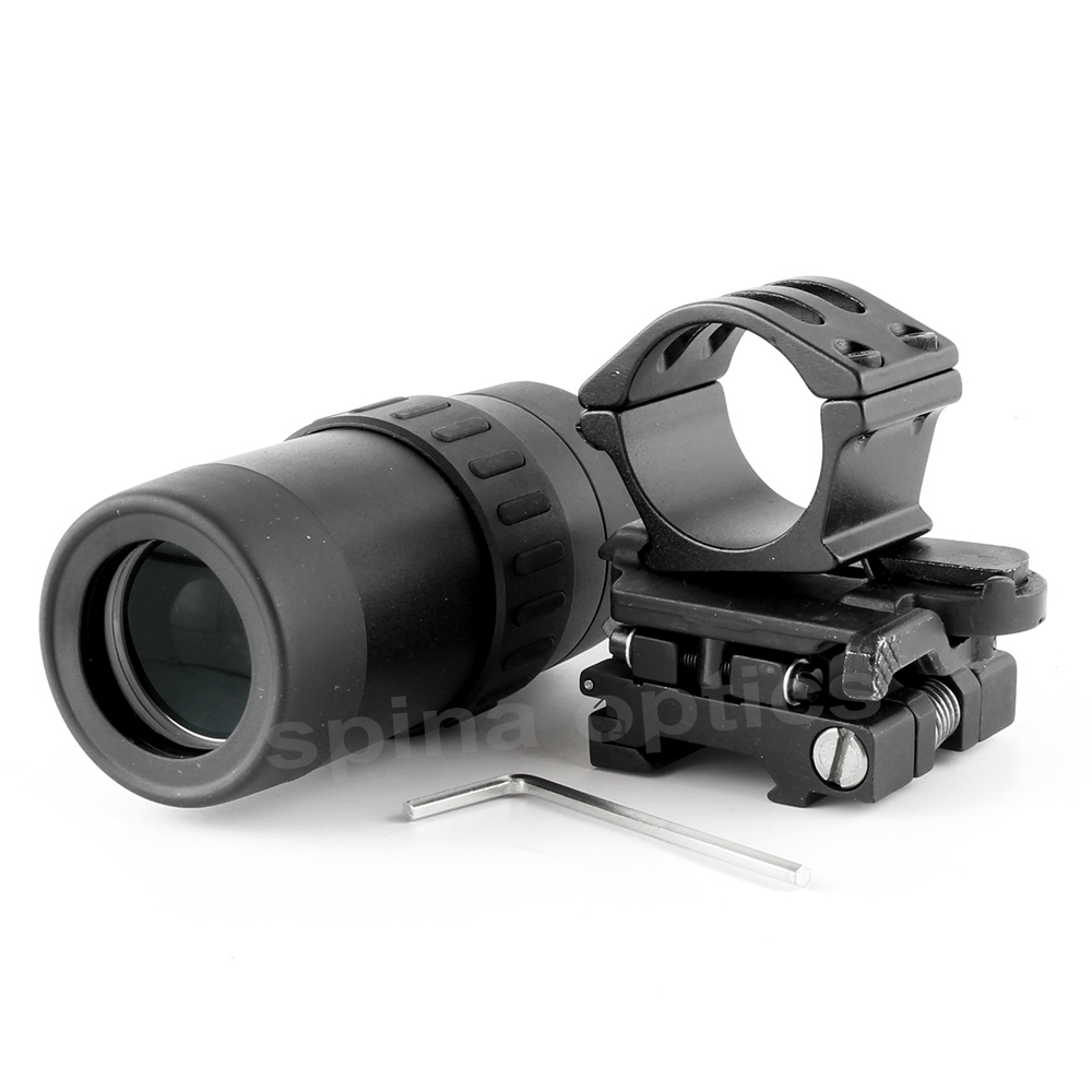 Tactical Zooming 1.5-5X Magnified Optics Magnifier with Flip to Side Mount for hunting Scope Red Dot SightTactical Zooming 1.5-5X Magnified Optics Magnifier with Flip to Side Mount for hunting Scope Red Dot Sight
