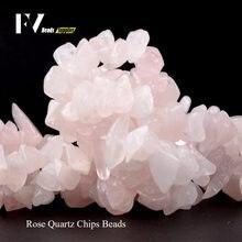 Rosa rosa microplaquetas de quartzo contas para bordados 8mm-12mm irregular contas de pedra natural acessórios diy jóias fazendo pulseiras 15