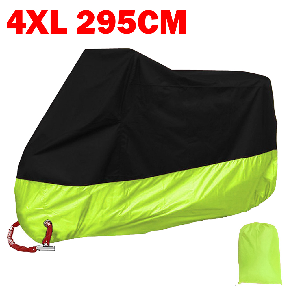 XXXXL Black/Green Motorcycle Cover for Harley Ultra Tour Electra Glide Classic FLHTCU For Honda Goldwing GL 1100 1200 1500 1800