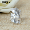 Vintage Leaves Silver Ring 100% 925 sterling silver for men or women gift fine jewelry Punk