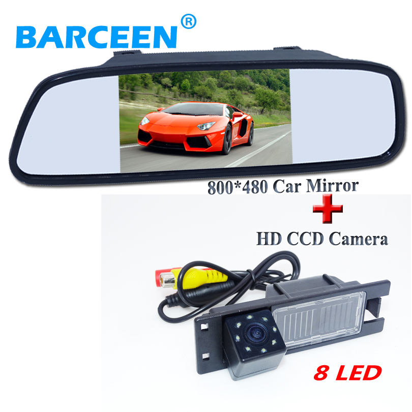 Bring wide view angle car rear view camera with 5 car mirror car for Opel Astra